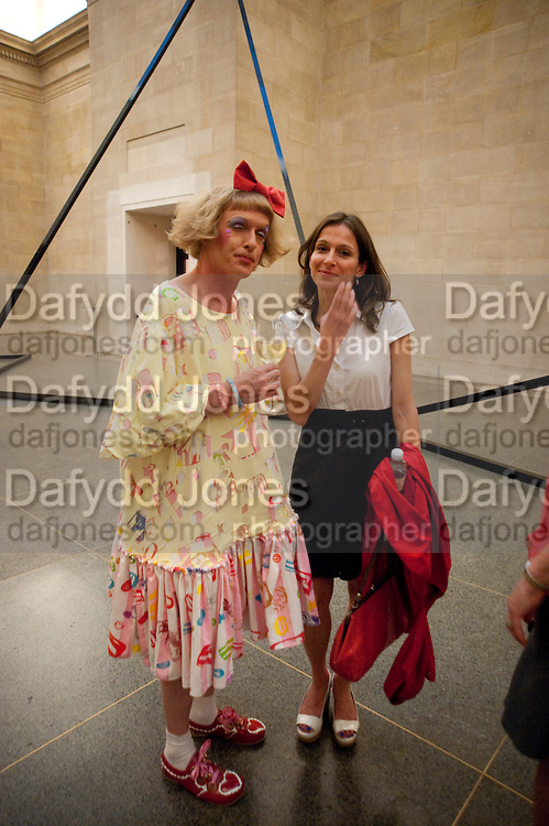 GRAYSON PERRY; SARAH THORNTON, Tate Britain Summer Party 2009. Millbank. London. 29 June 2009