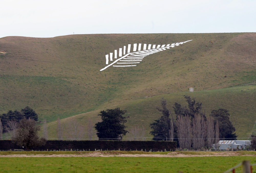 Waitaki farmer supports the All Blacks for the Rugby World Cup, Oamaru, New Zealand, Sunday, September 11, 2011. Credit:SNPA / Ross Setford