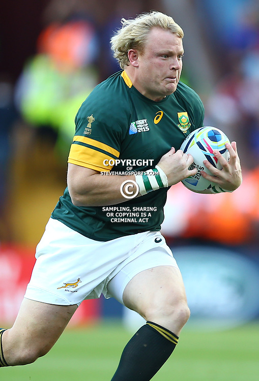 BIRMINGHAM, ENGLAND - SEPTEMBER 26: Adriaan Strauss of South Africa during the Rugby World Cup 2015 Pool B match between South Africa and Samoa at Villa Park on September 26, 2015 in Birmingham, England. (Photo by Steve Haag/Gallo Images)