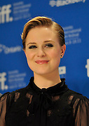 10.SEPTEMBER.2011. TORONTO<br /> <br /> EVAN RACHEL WOOD ATTENDS THE IDES OF MARCH PRESS CONFERENCE AT THE 36TH TORONTO INTERNATIONAL FILM FESTIVAL 2011.<br /> <br /> BYLINE: EDBIMAGEARCHIVE.COM<br /> <br /> *THIS IMAGE IS STRICTLY FOR UK NEWSPAPERS AND MAGAZINES ONLY*<br /> *FOR WORLD WIDE SALES AND WEB USE PLEASE CONTACT EDBIMAGEARCHIVE - 0208 954 5968*