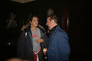 TRACEY EMIN AND HAMISH MCCALPINE, Viewing of 'Petit Mal'  by Paul Fryer. The Grecian Temple. Great Eastern Hotel. 40 Liverpool St. London. EC2M 7QN. ONE TIME USE ONLY - DO NOT ARCHIVE  © Copyright Photograph by Dafydd Jones 66 Stockwell Park Rd. London SW9 0DA Tel 020 7733 0108 www.dafjones.com