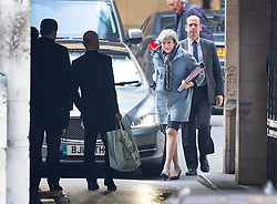 © Licensed to London News Pictures. 03/04/2019. London, UK. Prime Minister Theresa May arrives at Parliament. Mrs May has called for talks with Labour Party Leader Jeremy Corbyn to seek a way forward with the Brexit deadlock. Photo credit: Peter Macdiarmid/LNP