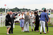 Ruth Carr (left) and The Connections of SOVEREIGN DEBT celebrate after winning The Listed mrgreen.com Live Casino Ganton Stakes over 1m (£50,000) during the Mid Summer Raceday at York Racecourse, York, United Kingdom on 15 June 2018. Picture by Mick Atkins.