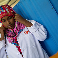 Seada Abdi, 25, helps patients who have maternal concerns. She also educates the husbands when they accompany their wives.