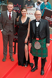 Edinburgh International Film Festival, Wednesday, 19th June 2018<br /> <br /> Opening Night Red Carpet: PUZZLE (International Premiere) <br /> <br /> Pictured: Iain De Caestecker, Ana Ularu and Jason Connery<br /> <br /> (c) Aimee Todd | Edinburgh Elite media