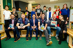 Bristol Bears players Joe Latta, Joe Joyce and John Hawkins visit St Mary Redcliffe Primary School as part of the World Book Day Celebrations - Ryan Hiscott/JMP - 07/03/2019 - SPORT - St Mary Redcliffe Primary School - Bristol, England - St Mary Redcliffe Primary School World Book Day Celebrations