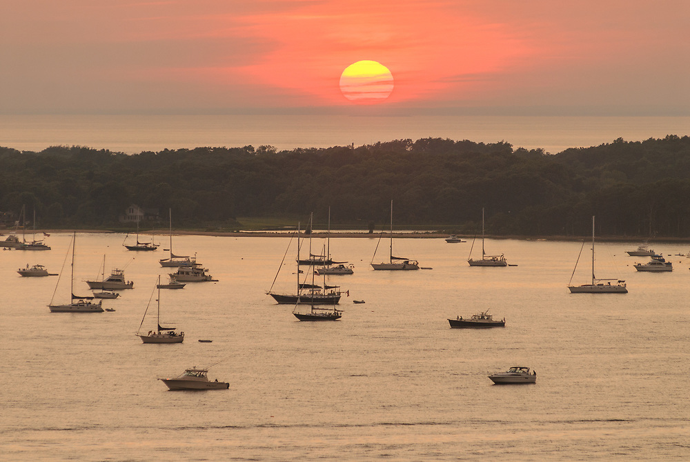 Southold Bay From Shelter Island, Long Island, New York, July 4th