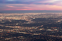 View of Los Angeles at Night from Mount Wilson Observatory, Angeles National Forest, California