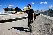 Writer and advocate for the homeless in Las Vegas Matthew O'Brien. Under the neon signs and singing slot machines in Las Vegas hundreds of homeless people live in the more than 200 miles of storm drains.