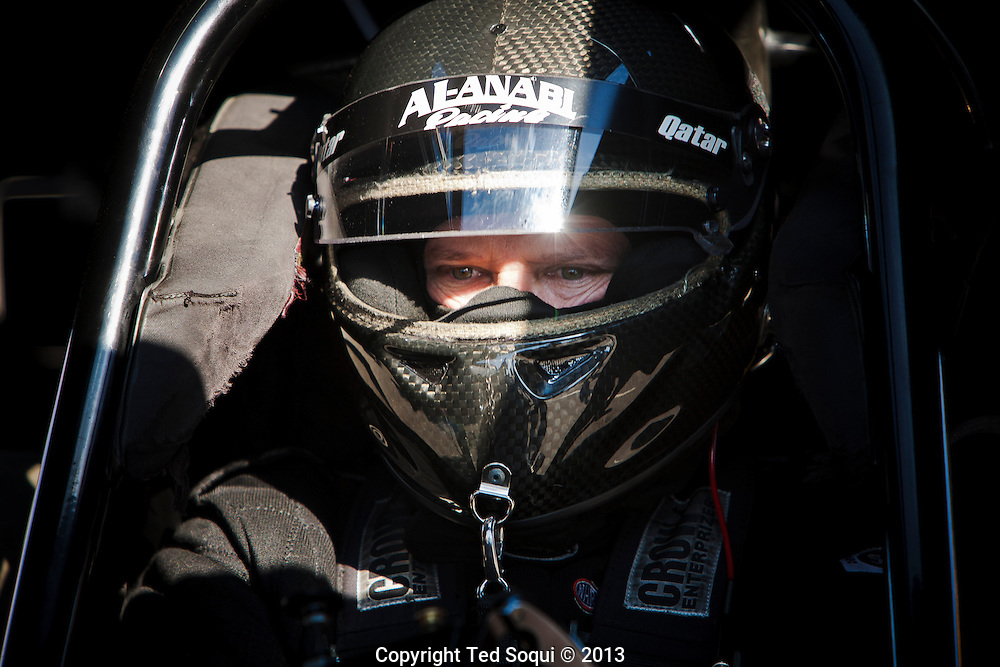 Funny Car driver Del Worsham..The 2013 March Meet at the Auto Club Famoso Raceway in McFarland, CA.