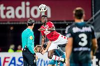 ALKMAAR - 24-09-2016, AZ - Go Ahead Eagles, AFAS Stadion, 2-2, AZ speler Derrick Luckassen, GA Eagles speler Marcel Ritzmaier