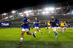The Bath Rugby team leave the field at the end of the pre-match warm-up - Mandatory byline: Patrick Khachfe/JMP - 07966 386802 - 15/12/2018 - RUGBY UNION - Aviva Stadium - Dublin, Republic of Ireland - Leinster Rugby v Bath Rugby - Heineken Champions Cup