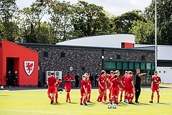 WREXHAM, WALES - Thursday, August 15, 2019: Wales' Under 15 Assistant Coach Craig Knight during the pre-match warm-up before the UEFA Under-15's Development Tournament match between Wales and Northern Ireland at Colliers Park. (Pic by Paul Greenwood/Propaganda)