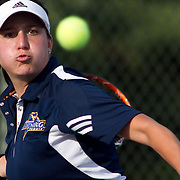 Goldey-Beacom Blanca Sancho in action during a NCAA regular season tennis match against Caldwell College Friday, Sept. 14, 2012. at Delcastle Recreation Park...Special to Monsterphoto/SAQUAN STIMPSON