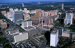 Stock photo of an aerial view of the Texas Medical Center