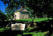 Image of George Washington's home and headquarters at Valley Forge National Historical Park, Pennsylvania, American Northeast