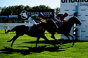 Amor Kethley ridden by Sean Kirrane and trained by Amy Murphy in the Sds Intellistorm Handicap race. Wild Dancer ridden by William Carver and trained by Patrick Chamings in the Sds Intellistorm Handicap race.  - Ryan Hiscott/JMP - 14/09/2019 - PR - Bath Racecourse - Bath, England - Race Meeting at Bath Racecourse