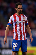 MADRID, SPAIN- FEBRUARY 24: Juanfran Torres of Club Atletico de Madrid looks on during the Liga BBVA between Atletico de Madrid and RCD Espanyol at the Vicente Calderon stadium on February 24, 2013 in Madrid, Spain. (Photo by Aitor Alcalde Colomer).