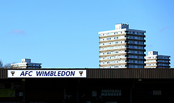 A general view of The Cherry Red Records Stadium, home to AFC Wimbledon - Mandatory by-line: Robbie Stephenson/JMP - 17/02/2018 - FOOTBALL - Cherry Red Records Stadium - Kingston upon Thames, England - AFC Wimbledon v Bristol Rovers - Sky Bet League One