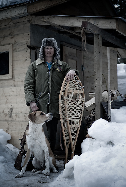 Justin Baun, snowboarder, trapper, Golden, Canada.