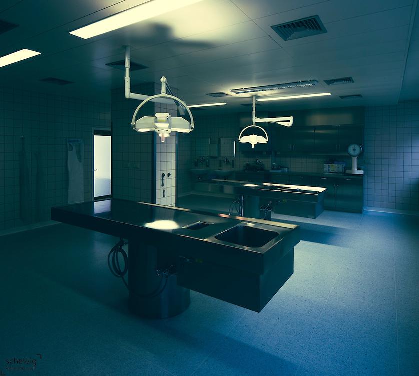 Seziersaal, Krankenhaus, Pathologisches Institut, Österreich, Horn