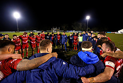 Bristol Rugby Head Coach Pat Lam speaks to the players after their win over Nottingham Rugby - Mandatory by-line: Robbie Stephenson/JMP - 06/04/2018 - RUGBY - The Bay - Nottingham, England - Nottingham Rugby v Bristol Rugby - Greene King IPA Championship