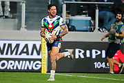 The reaction from Gerard Beale after his try is disallowed due to a forward pass. Parramatta Eels v Vodafone Warriors. NRL Rugby League. Bankwest Stadium, Sydney, Australia. 27th July 2019. Copyright Photo: David Neilson / www.photosport.nz