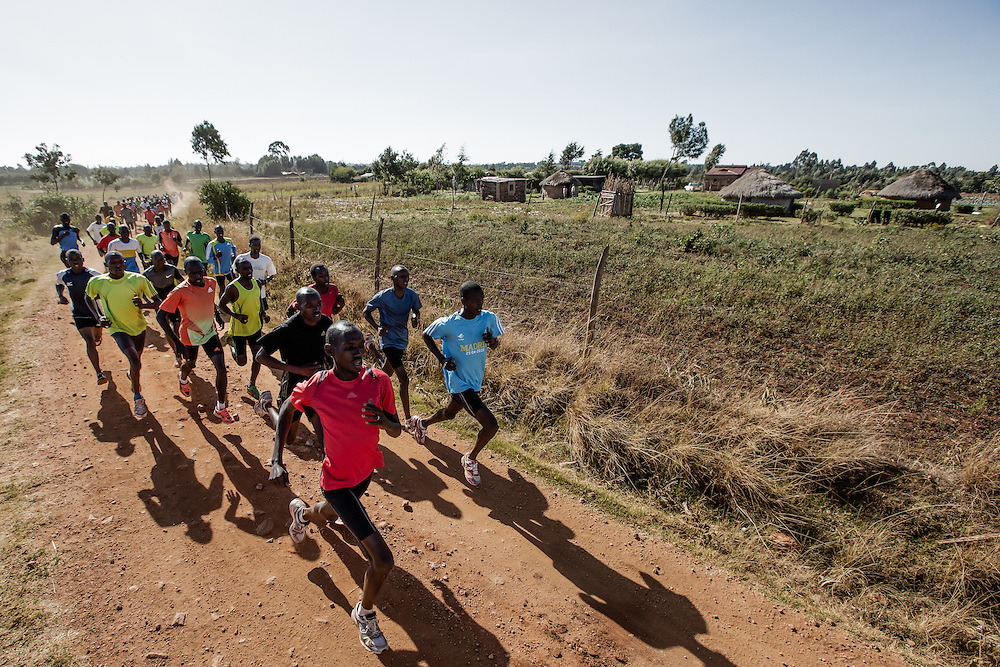 Runners training in Iten, Kenya.