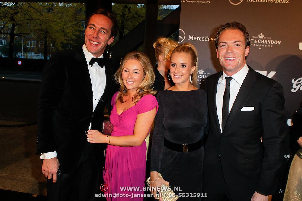 NLD/Amsterdam/20111029- JFK Greatest Man Award 2011, Patrick huisman en partner Madelon Doornbos, Chantal Bles en partner Robert Doornbos