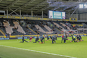 General shot of the stadium during the Sky Bet Championship match between Hull City and Cardiff City at the KC Stadium, Kingston upon Hull, England on 13 January 2016. Photo by Mark P Doherty.