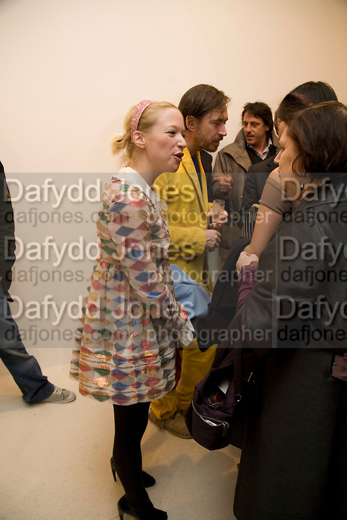 NATHALIE PRESS, Exhibition of work by Marc Newson at the Gagosian Gallery, Davies st. London. afterwards at Mr. Chow, Knightsbridge. 5 March 2008.  *** Local Caption *** -DO NOT ARCHIVE-© Copyright Photograph by Dafydd Jones. 248 Clapham Rd. London SW9 0PZ. Tel 0207 820 0771. www.dafjones.com.