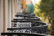 hotel balconies with a chair