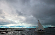 A view of Lake Mendota from the Memorial Union Terrace during the Madison World Music Festival on September 12, 2014.
