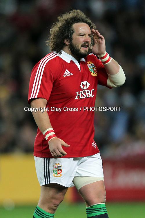 Adam Jones. 2013 NSW Waratahs v British & Irish Lions. Allianz Stadium, Sydney on Saturday 15 June 2013. Photo Clay Cross / photosport.co.nz