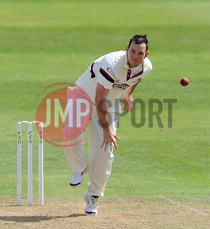 Somerset's Jim Allenby - Photo mandatory by-line: Harry Trump/JMP - Mobile: 07966 386802 - 14/06/15 - SPORT - CRICKET - LVCC County Championship - Division One - Day One - Somerset v Nottinghamshire - The County Ground, Taunton, England.