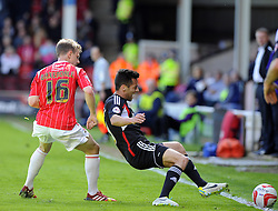 Bristol City's Sam Baldock is fouled by Walsall's James Baxendale  - Photo mandatory by-line: Joe Meredith/JMP - Mobile: 07966 386802 12/04/2014 - SPORT - FOOTBALL - Walsall - Banks' Stadium - Walsall v Bristol City - Sky Bet League One
