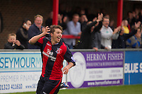 Chris Shephard, Striker with Eastbourne Borough Football Club playing in the match against Billericay Town FC at Priory Lane, Eastbourne. Scored the 1st goal of the match.