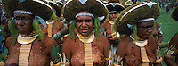 Papouasie Nouvelle Guinée.  Region des Highlands. Mount Hagen. Festival de Sing Sing. // Papua New Guinea. Western Highlands. Mt. Hagen. Sing-sing festival.