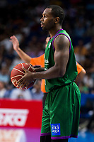 Unicaja Malaga's player Oliver Lafayette during match of Liga Endesa at Barclaycard Center in Madrid. September 30, Spain. 2016. (ALTERPHOTOS/BorjaB.Hojas)