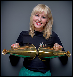 Kris Hallenga from CoppaFeel with her Innovation Award and her Campaign of the Year award at the Westbourne Communication Change Opinion Awards, London, United Kingdom. Thursday, 15th May 2014. Picture by Andrew Parsons / i-Images