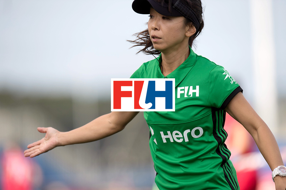 AUCKLAND - Sentinel Hockey World League final women<br /> Match id 10291<br /> USA v KOR (Pool A)<br /> Foto: SOMA Chieko (JPN) umpire.<br /> WORLDSPORTPICS COPYRIGHT FRANK UIJLENBROEK