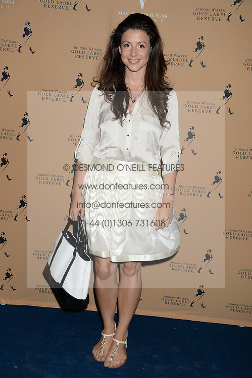 The Johnnie Walker Gold Label Reserve Party aboard John Walker & Sons Voyager, St.Georges Stairs Tier, Butler's Wharf Pier, London, UK on 17th July 2013.<br /> Picture Shows:-Shirley Leigh-Wood Oakes.
