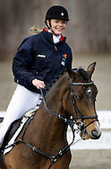 JAMES BOARDMAN / 07967642437.Strictly Come Dancing's Jodie Kidd training at Hickstead for a jump off against Tara Palmer - Tomkinson at the Millennium Stadium in Cardiff on November 30. Jodie was last night voted off the celebrity dance show.