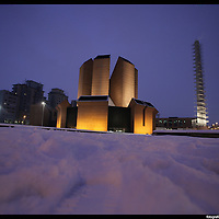 Nella foto Spina 3 Parco Dora Turin under snow, Torino sotto la neve.