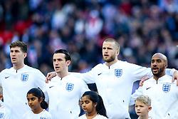 John Stones, Ben Chilwell, Eric Dier and Fabian Delph of England sing the national anthem - Mandatory by-line: Robbie Stephenson/JMP - 18/11/2018 - FOOTBALL - Wembley Stadium - London, United Kingdom - England v Croatia - UEFA Nations League