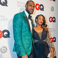 Lebron James with Savannah James posing at the GQ & Lebron James NBA All Star Style party sponsored by Samsung Galaxy on Saturday, February 15, 2014, at the Ogden Museum of Southern Art in New Orleans, Louisiana with live jam session from grammy Award-winning Artist The Roots. Photo Credit: Gustavo Escanelle / Retna Ltd.