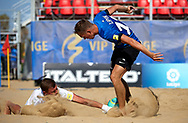 CATANIA, ITALY - AUGUST 18: Euro Beach Soccer League match between Estonia and Lithuania on August 18, 2019 in Catania, Italy. (Photo by Quality Sport Images)