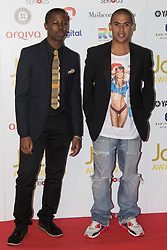 Victoria House, London, April 26th 2016.  Binker and Moses (L) photographed at the Jazz FM awards at Victoria House, Bloomsbury, London.