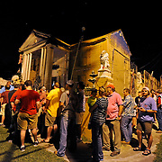 A line of fans waits to enter Graceland Too in Holly Springs, Miss., Tuesday, Aug. 12, 2014. (Photo/Thomas Graning)