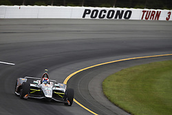 August 19, 2018 - Long Pond, Pennsylvania, United Stated - ZACH VEACH (26) of the United Stated take to the track for the ABC Supply 500 at Pocono Raceway in Long Pond, Pennsylvania. (Credit Image: © Chris Owens Asp Inc/ASP via ZUMA Wire)